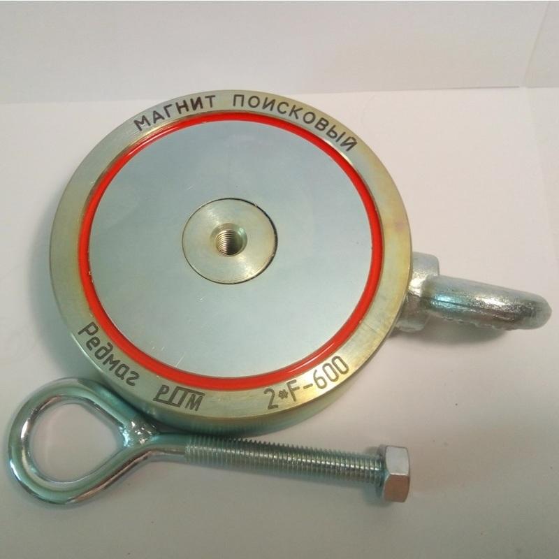 Поисковый двухсторонний магнит f-600х2+ (калуга).