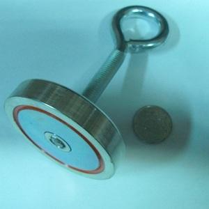 Поисковый односторонний магнит f-120+ (калуга).